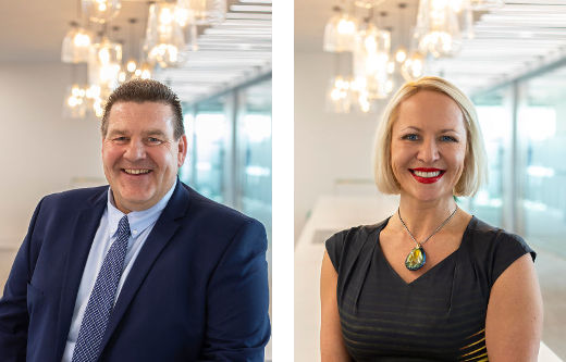 Terry Grant & Irene Lesnikova received promotions in July 2019
